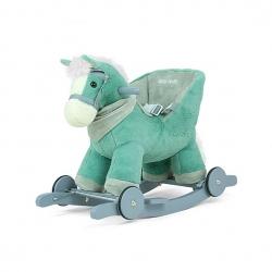 Koń na biegunach, bujany POLLY miętowy Milly Mally
