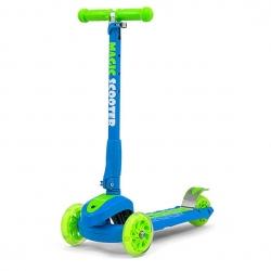 Hulajnoga 3-kołowa SCOOTER MAGIC niebiesko-zielona Milly Mally