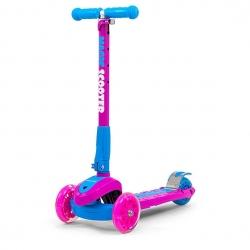 Hulajnoga 3-kołowa SCOOTER MAGIC różowo-niebieska Milly Mally