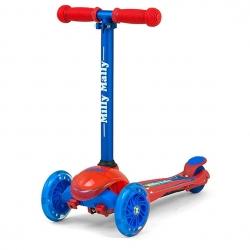 Hulajnoga 3-kołowa, dziecięca ZAPP Redcom czerwono-niebieska Milly Mally