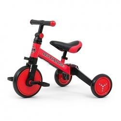 Rowerek dziecięcy 3w1 Optimus czerwony Milly Mally