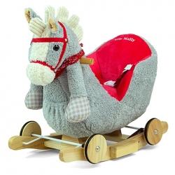 Konik bujany Polly Horse szaro-czerwony Milly Mally