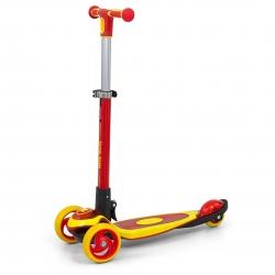 Hulajnoga trójkołowa Scooter Micmax czerwono-żółta Milly Mally