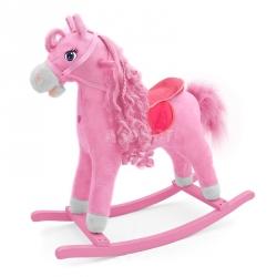 Koń na biegunach, bujany PRINCESS różowy Milly Mally