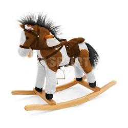 Koń na biegunach, bujany ŁATEK łaciaty Milly Mally