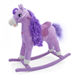 Koń na biegunach, bujany PRINCESS fioletowy Milly Mally
