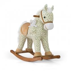Koń na biegunach, bujany PONY gray dot + miś Milly Mally