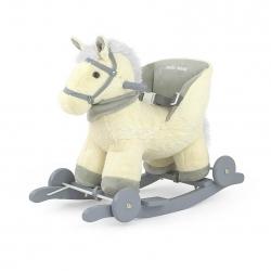 Koń na biegunach, bujany POLLY beżowy Milly Mally