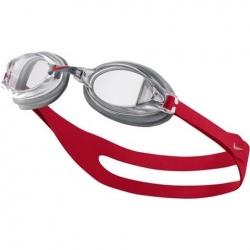 Okulary pływackie Nike CHROME GOGGLE srebrno-czerwone