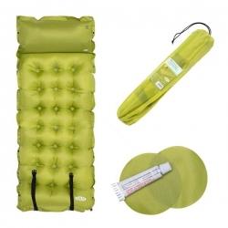Mata samopompująca z poduszką NC4018 zielona188x66x3.5cm NILS CAMP