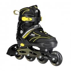 Łyżworolki z wymienną płozą hokejową NH11812 A 2w1 czarno-żółte