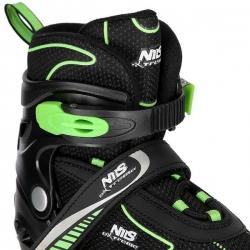 Łyżworolki z wymienną płozą hokejową NH11812 A 2w1 czarno-zielone