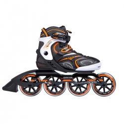 Rolki do jazdy szybkiej NA1060 S czarno-pomarańczowe Nils