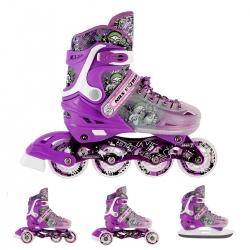 Łyżworolki z wymienną płozą hokejową NH18122 4w1 fioletowe Nils