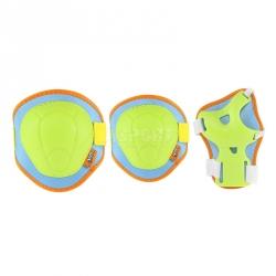 Ochraniacze dziecięce na nadgarstki, łokcie, kolana H106 multikolor Nils