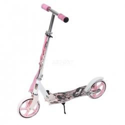 Hulajnoga 2-kołowa, składana, dziecięca, młodzieżowa HA205 różowa Nils