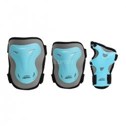 Zestaw ochraniaczy na kolana, łokcie, nadgarstki H716 niebiesko-szare Nils