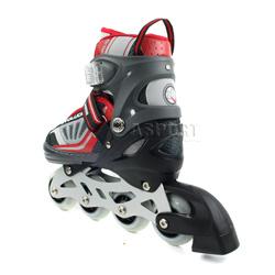 Rolki + łyżwy regulowane, 2w1, świecące koło, płoza hokejowa NH 900 A Nils