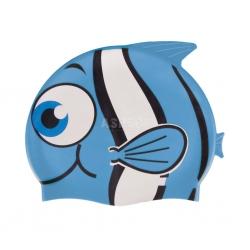 Czepek dziecięcy z silikonu FISH niebieski Nuui