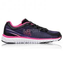 Buty do biegania, na jogging, sportowe, damskie E52178H czarno-różowe Peak