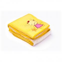 Kocyk dziecięcy do wózka, łóżeczka SŁODKIE MISIE żółty Sensillo