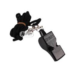 Gwizdek plastikowy ze sznurkiem 83603 czarny Spokey