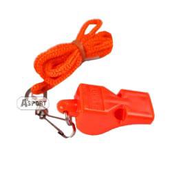 Gwizdek plastikowy ze sznurkiem 83604 pomarańczowy Spokey