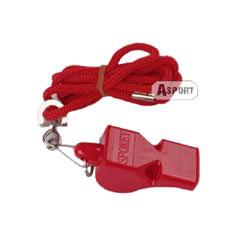 Gwizdek plastikowy ze sznurkiem 83605 czerwony Spokey
