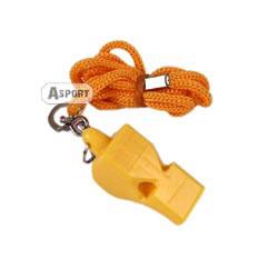 Gwizdek plastikowy ze sznurkiem 83606 żółty Spokey