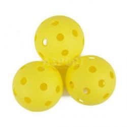Piłeczki do unihokeja 3 szt. TURN żółte SPOKEY