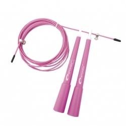 Skakanka treningowa, regulowana długość, 300cm CROSSFIT różowa Spokey