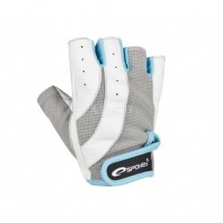 Rękawiczki na fitness, siłownię ZOE białe Spokey
