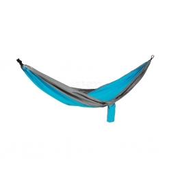Hamak nylonowy, jednoosobowy, 280x140 cm COCOON niebiesko-szary Spokey
