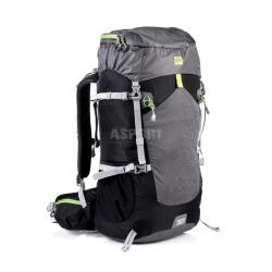Plecak turystyczny, trekkingowy 50l LUKLA czarno-szary Spokey