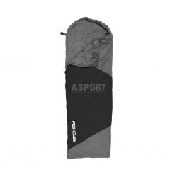 Letni śpiwór koperta z kapturem 210x75cm ULTRALIGHT 600 II czarno-szary Spokey