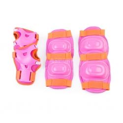 Ochraniacze dziecięce, zestaw: nadgarstki, kolana, łokcie AEGIS różowe Spokey