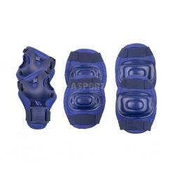 Ochraniacze dziecięce, zestaw: nadgarstki, kolana, łokcie AEGIS granatowe Spokey