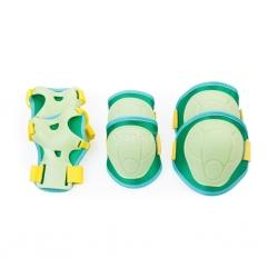 Ochraniacze dziecięce na nadgarstki, kolana, łokcie BUFFER zielone Spokey