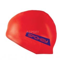 Silikonowy czepek pływacki FREESTYLE pomarańczowy Spokey