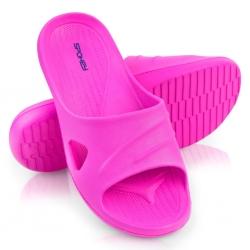 Klapki basenowe damskie ISOLA różowe Spokey