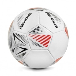 Piłka nożna STENCIL WT/RD rozm. 5 Spokey