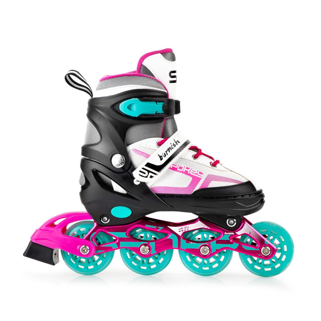 Kinder Mädchen Inlineskates Inliner ABEC7 Skates Größenverstellbar SNAP Spokey
