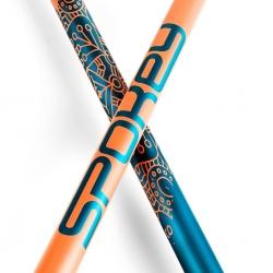 Kije Nordic Walking 105-135 cm MEADOW pomarańczowo-niebieskie Spokey