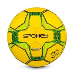 Piłka nożna AMBIT żółta, rozmiar 5 Spokey