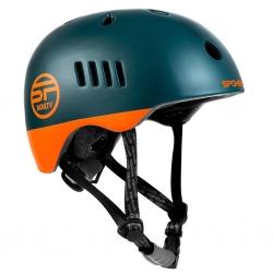 Kask rowerowy BMX PUMPTRACK zielono-pomarańczowy Spokey