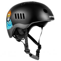Kask rowerowy BMX PUMPTRACK czarno-szary, Spokey