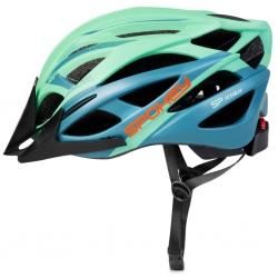 Kask rowerowy z daszkiem FEMME zielony Spokey