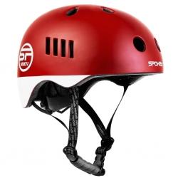 Kask rowerowy BMX PUMPTRACK czerwono-biały Spokey