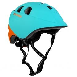 Kask rowerowy regulowany 48-54 cm CHERUB ciemnomiętowy Spokey