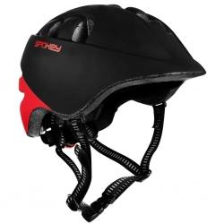 Dziecięcy kask rowerowy 44-48 cm CHERUB czarny/czerwony Spokey